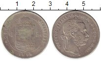 Изображение Монеты Венгрия 1 форинт 1879 Серебро XF-