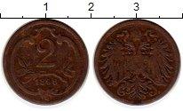 Изображение Монеты Европа Австрия 2 геллера 1896 Бронза XF