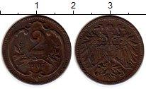 Изображение Монеты Европа Австрия 2 геллера 1907 Бронза XF