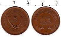 Изображение Монеты Уганда 5 центов 1966 Бронза XF