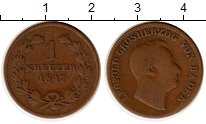 Изображение Монеты Германия Баден 1 крейцер 1847 Медь XF-