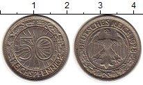 Изображение Монеты Германия Веймарская республика 50 пфеннигов 1928 Медно-никель XF