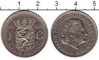 Изображение Монеты Нидерланды 1 гульден 1968 Медно-никель XF