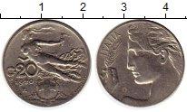 Изображение Монеты Европа Италия 20 сентесим 1920 Медно-никель XF