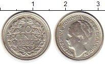 Изображение Монеты Европа Нидерланды 10 центов 1935 Серебро XF