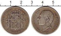 Изображение Монеты Испания 2 песеты 1879 Серебро VF Альфонсо XII