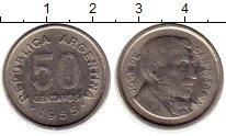 Изображение Монеты Южная Америка Аргентина 50 сентаво 1955 Медно-никель XF