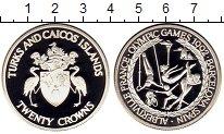 Изображение Монеты Великобритания Теркc и Кайкос 20 крон 1992 Серебро Proof