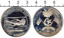 Изображение Монеты Мальдивы 100 руфий 1998 Серебро Proof-