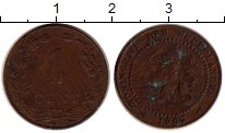 Изображение Монеты Европа Нидерланды 1 цент 1902 Бронза VF