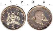 Изображение Монеты Африка Уганда 2 шиллинга 1969 Серебро Proof-