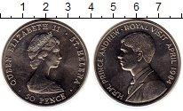 Изображение Монеты Великобритания Остров Святой Елены 50 пенсов 1984 Медно-никель UNC-