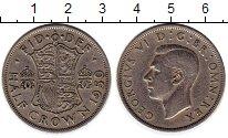 Изображение Монеты Европа Великобритания 1/2 кроны 1950 Медно-никель XF