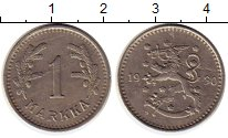 Изображение Монеты Европа Финляндия 1 марка 1930 Медно-никель XF