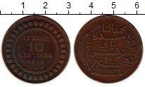 Изображение Монеты Африка Тунис 10 сантим 1914 Бронза XF