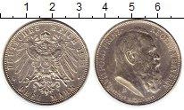 Изображение Монеты Бавария 3 марки 1911 Серебро XF 90 - летие Луитпольд