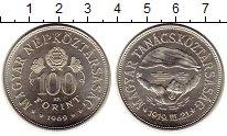 Изображение Монеты Европа Венгрия 100 форинтов 1969 Серебро UNC-