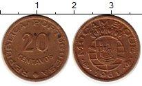 Изображение Монеты Мозамбик 20 сентаво 1961 Бронза XF Португальская колони