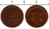 Изображение Монеты Португалия 5 сентаво 1924 Бронза XF