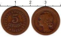 Изображение Монеты Европа Португалия 5 сентаво 1927 Бронза XF