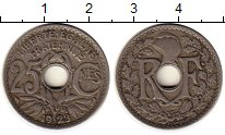 Изображение Монеты Европа Франция 25 сантим 1923 Медно-никель XF