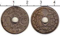 Изображение Монеты Европа Франция 10 сантим 1935 Медно-никель XF