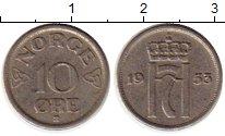 Изображение Монеты Норвегия 10 эре 1953 Медно-никель XF