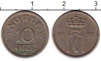 Изображение Монеты Норвегия 10 эре 1955 Медно-никель XF Хокон VII