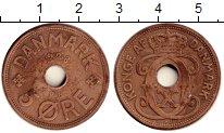 Изображение Монеты Дания 5 эре 1928 Бронза XF Кристиан Х