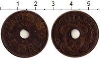 Изображение Монеты Европа Дания 5 эре 1932 Бронза XF