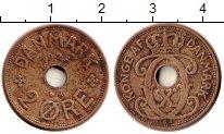 Изображение Монеты Дания 2 эре 1928 Бронза XF