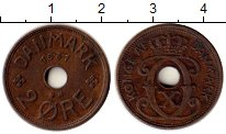 Изображение Монеты Дания 2 эре 1931 Бронза XF Кристиан Х
