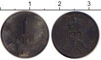 Изображение Монеты Дания 1 эре 1953 Цинк VF Фредерик IX