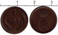 Изображение Монеты Дания 1 эре 1874 Бронза XF