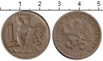 Изображение Монеты Чехословакия 1 крона 1924 Медно-никель XF-