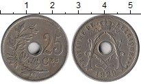Изображение Монеты Европа Бельгия 25 сантим 1929 Медно-никель XF