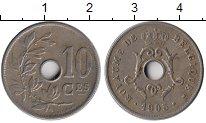 Изображение Монеты Бельгия 10 сантим 1905 Медно-никель XF