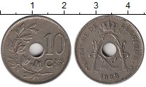 Изображение Монеты Европа Бельгия 10 сантим 1928 Медно-никель XF
