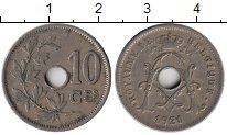 Изображение Монеты Европа Бельгия 10 сантим 1921 Медно-никель XF