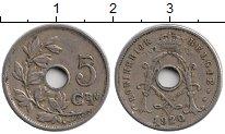 Изображение Монеты Европа Бельгия 5 сантим 1920 Медно-никель XF