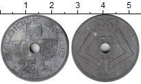 Изображение Монеты Бельгия 25 сантим 1946 Цинк VF