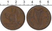 Изображение Монеты Ирландия 1 пенни 1928 Бронза XF Курица