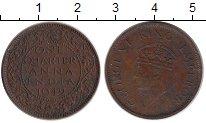 Изображение Монеты Индия 1/4 анны 1942 Бронза XF- Георг VI