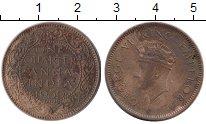 Изображение Монеты Индия 1/4 анны 1939 Бронза VF Георг VI