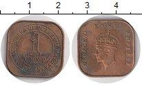 Изображение Монеты Малайя 1 цент 1943 Бронза XF- Георг VI