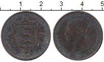Изображение Монеты Остров Джерси 1/26 шиллинга 1866 Бронза VF Королева Виктория. Г