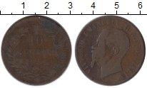 Изображение Монеты Италия 10 сентесим 1866 Бронза VF