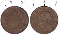 Изображение Монеты Италия 5 сентесим 1862 Бронза VF Виктор Эммануил II