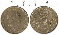 Изображение Монеты Италия 200 лир 1994 Латунь UNC-