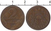 Изображение Монеты Европа Латвия 2 сантима 1932 Бронза XF